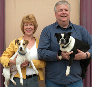 Owners Holding Dogs